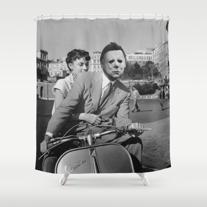 Michael Myers In Roman Holiday Shower Curtain