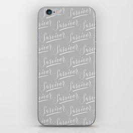 Survivor Modern Calligraphy Hand Lettering Design iPhone Skin