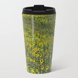 """Sunflowers"". Hills.  Fields... Travel Mug"