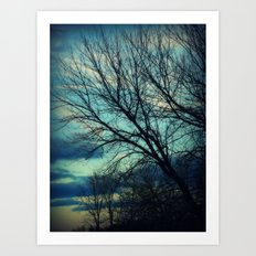 Merrimac Winter Sky Art Print