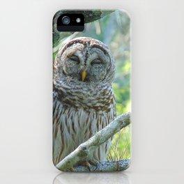 Smiling Owl iPhone Case