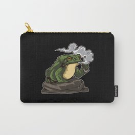 Vaping Toad | Vape Vaper Frog Animal Chill Relax Carry-All Pouch