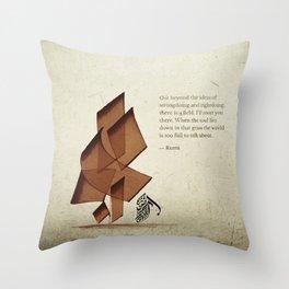 Arabic Calligraphy - Rumi - Beyond Throw Pillow