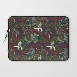 Bush Orchid Maroon Polka Pattern Laptop Sleeve