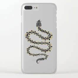 Serpent – Black & Gold Clear iPhone Case