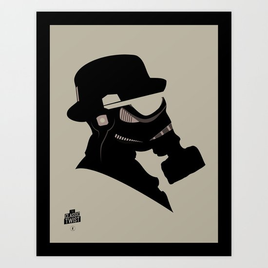 Storm Trooper Gas Mask  Art Print