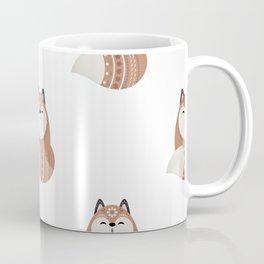 Folkloric Christmas Winter Fox Coffee Mug