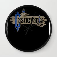 castlevania Wall Clocks featuring Castlevania by pixel.pwn | AK