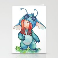 stitch Stationery Cards featuring stitch  by cynamon