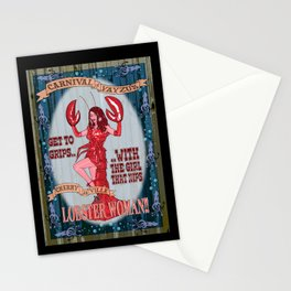 Lobster Girl Stationery Cards
