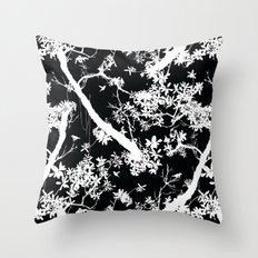 Black rainforest Throw Pillow