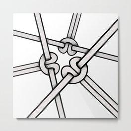 knots tied Metal Print
