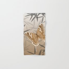 Beautiful Copper Butterfly Design Hand & Bath Towel