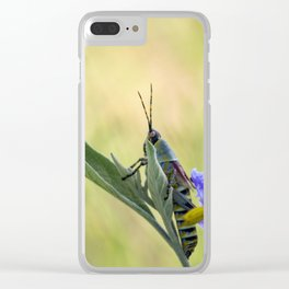 grasshopper flower Clear iPhone Case