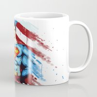 man of steel Mugs featuring Man of Steel by Dave Franciosa