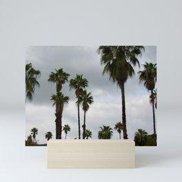 Cloudy Day Palms on the Hillside Mini Art Print
