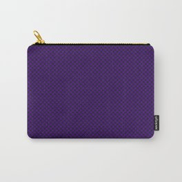 Houndstooth Black & Purple small Carry-All Pouch