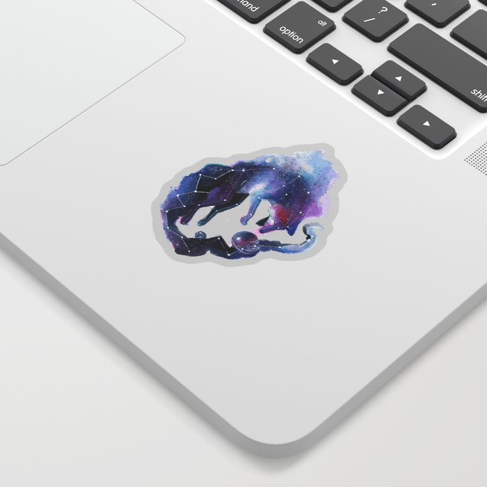 Constellation of the fox Sticker
