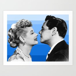 lucy and desi blue Art Print