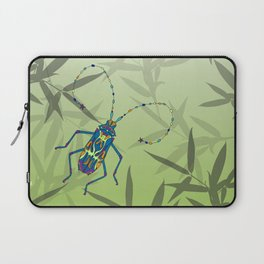 Insect Bamboo leaves Green Unique Pattern Laptop Sleeve