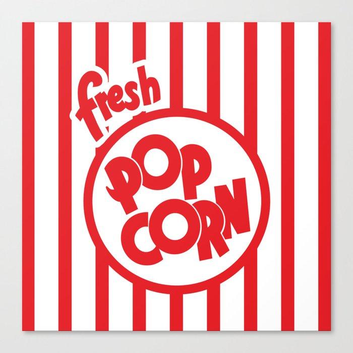 Fresh Popcorn Leinwanddruck