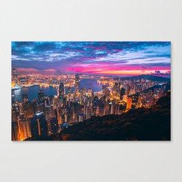 Sunset City (Color) Canvas Print