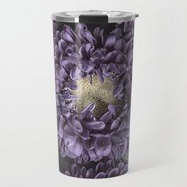 Metallic Purple Mums on a Metal Background Travel Mug