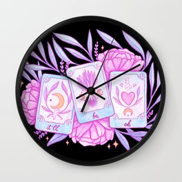 Your Future Will Be Bright // Black Wall Clock