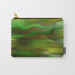 Waves of Abstraction (olive-apple-avocado green) Carry-All Pouch