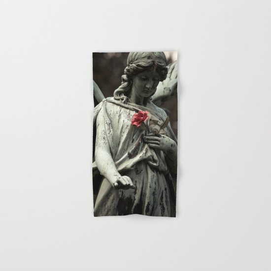 Angel with a rose Hand & Bath Towel
