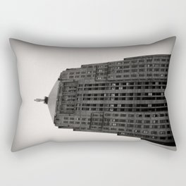 Chicago Board of Trade Building Black and White Rectangular Pillow