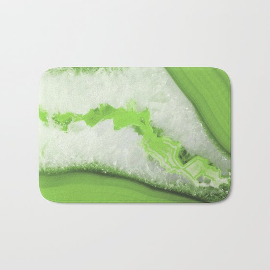 Greenery Agate Bath Mat