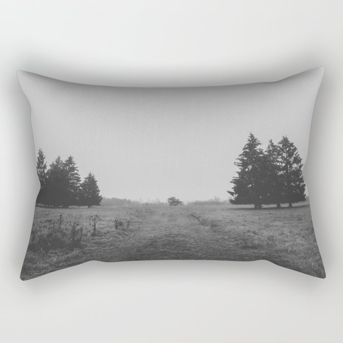 Siblings - black and white landscape photography Rectangular Pillow
