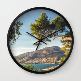 Maritime pine trunk in French Riviera in a sunny day Wall Clock
