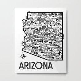 Arizona Map Metal Print
