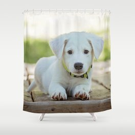 Poppy | Chiot Shower Curtain