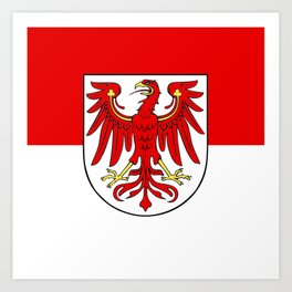 Flag of brandenburg Art Print
