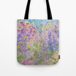 Spring Hydrangeas, Pastel Abstract, Modern Painting Tote Bag