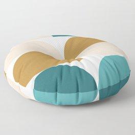 modern geo –turquoise, gold, blush Floor Pillow