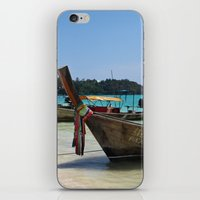 thailand iPhone & iPod Skins featuring Thailand Boat by Sweet Little Pixels