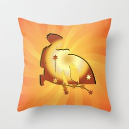 Sternzeichen Wassermann Throw Pillow