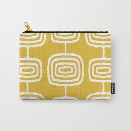 Mid Century Modern Atomic Rings Pattern 771 Mustard Yellow Carry-All Pouch