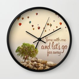 Far away (ballons) Wall Clock