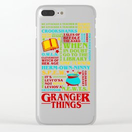 Granger Things Clear iPhone Case