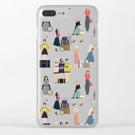 Vintage Travel Clear iPhone Case
