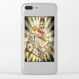 Radio Raheem Clear iPhone Case