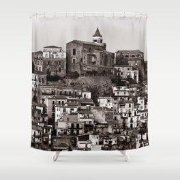 "Urban Landscape of Sicily ""VACANCY"" zine Shower Curtain"