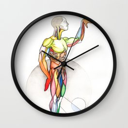 The Male, nude muscle anatomy, NYC artist Wall Clock