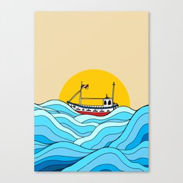 The little fishing boat Canvas Print