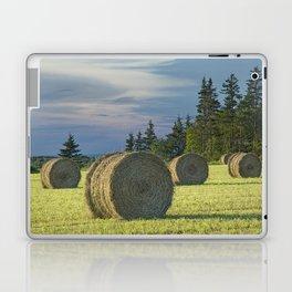 Hay Bales on Prince Edward Island Laptop & iPad Skin